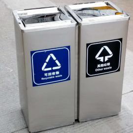 超市出入口201不锈钢垃圾桶电梯口果壳箱镀锌板果皮箱