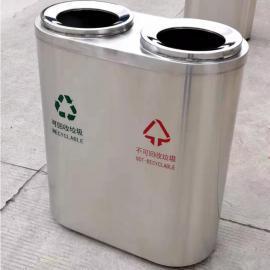 公共场所不锈钢分类垃圾桶-室内外定制果皮箱垃圾桶成品货源
