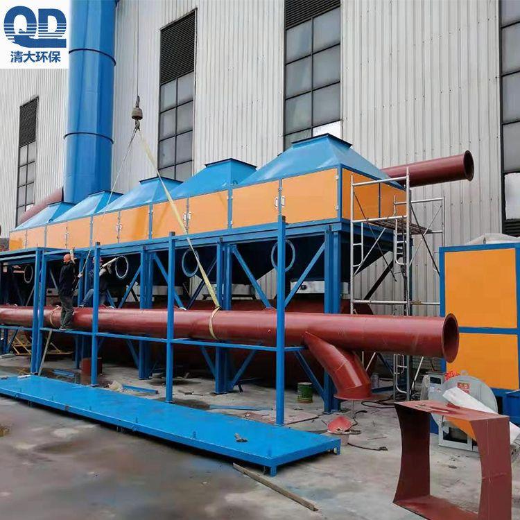 清大环保机械有限公司型台地区催化燃烧装置火热安装中QD-10000
