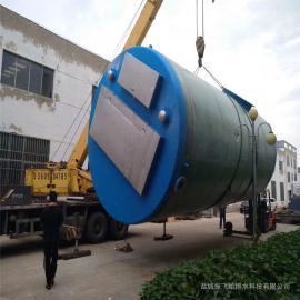 日处理300吨/天玻璃钢GRP预制筒体一体化污水提升泵振飞一体式泵站