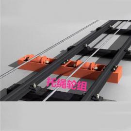 矿用压绳轮组 托绳轮组JWB110BJ无极绳调速机械绞车驱动滚筒绳衬