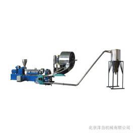 塑料改性-热切单螺杆造粒机-SJ55/65泽岛机械