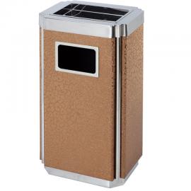 方形果皮箱烟灰桶生产厂商-公共场所吸烟区垃圾桶定制企业