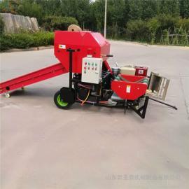 圣泰牧草青储裹包机热卖 打捆包膜机工作效率YK5552
