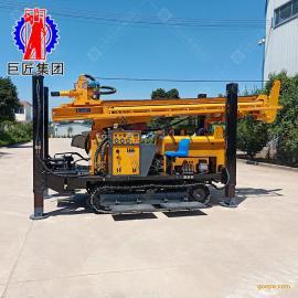 华夏巨匠350米钢制履带式气动水井钻机 大口径高压冲击式打井成套设备5461