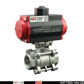 三片式气动螺纹球阀,SS304丝口气动阀VT2JDN33A德国VATTEN