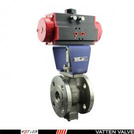 气动偏心半球阀-V型建切口气动阀-粘稠介质专用阀menVATTENVT2IDF33A