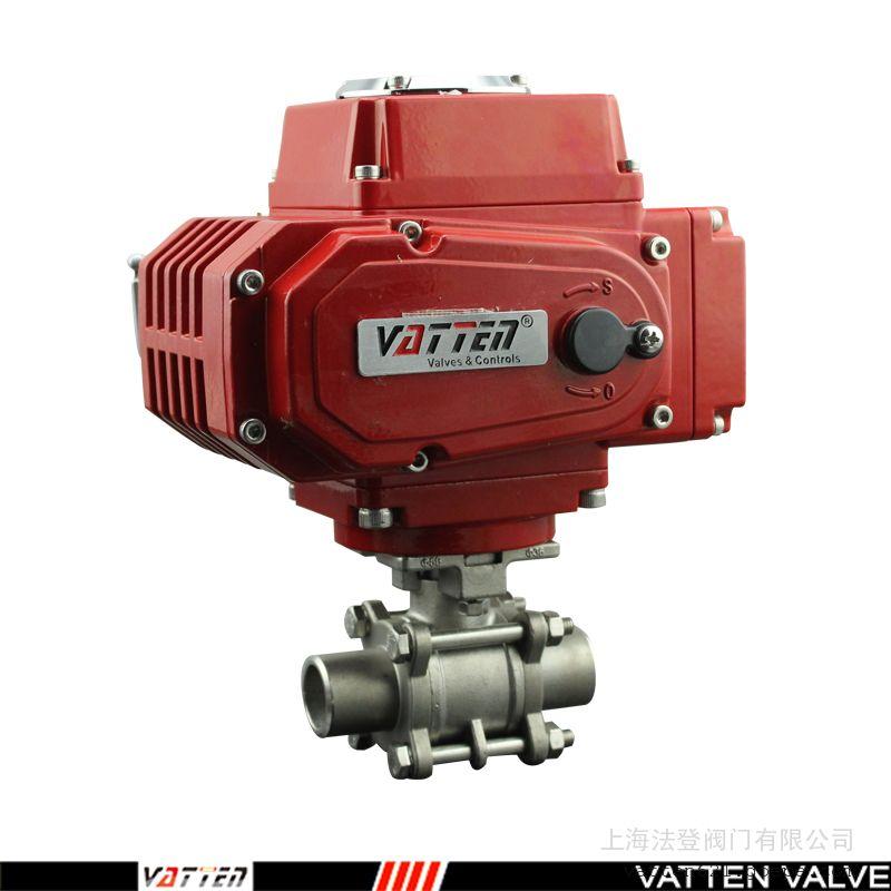 对焊高压电动不锈钢球阀 O型全通径电动开关阀VATTENVT2CDB33A