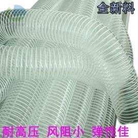 莱克斯PVC钢丝风管 木工机械吸尘通风塑料伸缩软管 PVC伸缩吸尘管LKE00711