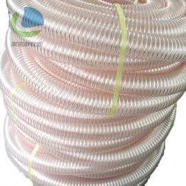 莱克斯PU镀铜钢丝软管 扫地车吸尘管 陶瓷机械下料软管 耐磨吸尘管LKE00503