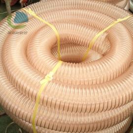 莱克斯PU钢丝软管 吸尘管 耐磨软管 PU镀铜钢丝管 德国进口料生产LKE503