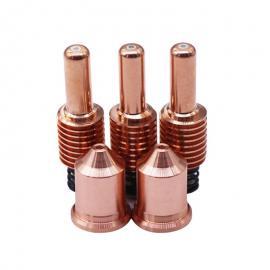 海宝等离子切割机兼容配件105A银头电极220842喷嘴保护帽220990