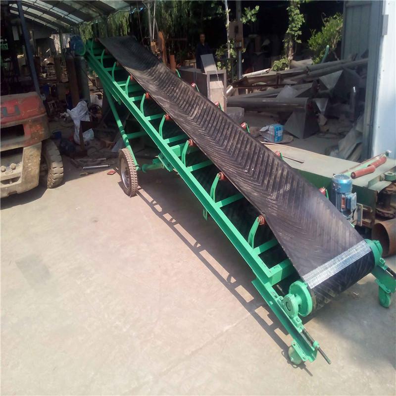 六九重工8米长圆管升降式平托辊输送机Lj8 装车移动式皮带输送机dy650