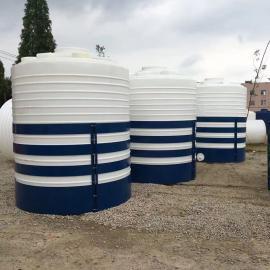 华社10吨减水剂储罐耐酸碱塑料水箱抗氧化PE水塔滚塑一次成型10T