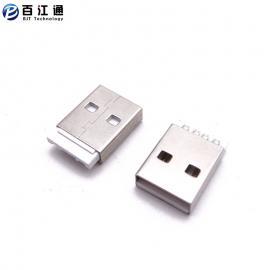 BJTUSB公头/焊线式/白胶/USB2.0