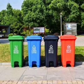 市政小区塑料垃圾桶生产企业-120L240升脚踩环卫挂车桶定制货源