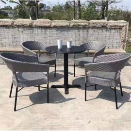 庭院阳台室外休闲桌椅组合 户外藤编桌椅加工制造厂