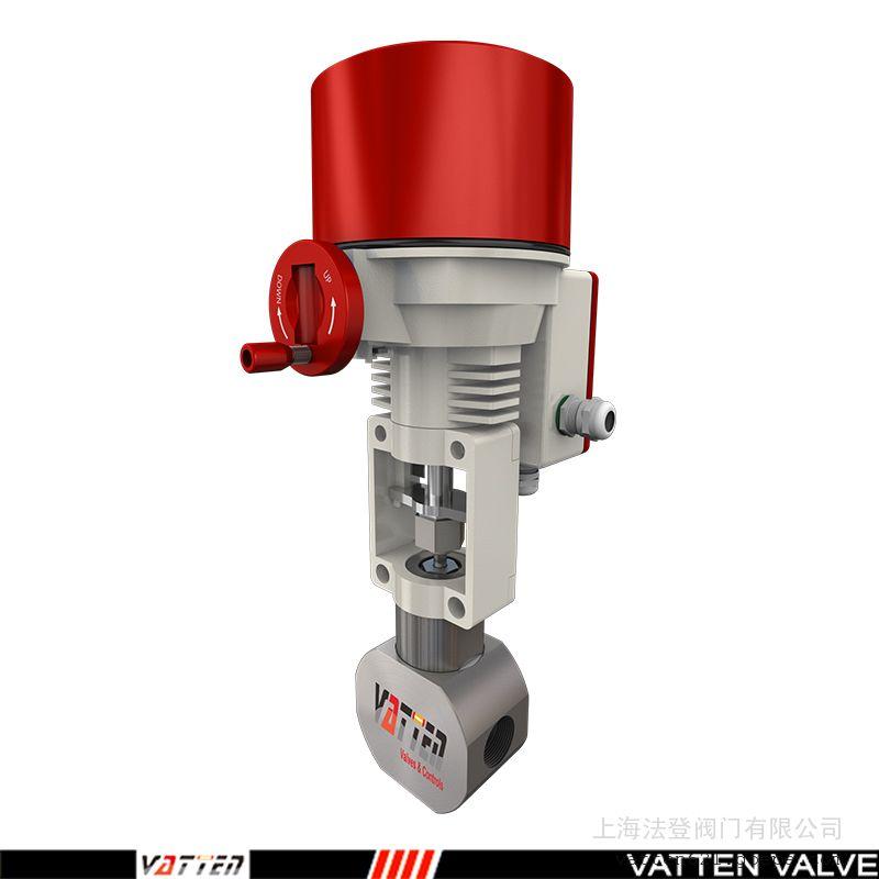 高压浓水电动调节阀 环保废水电动阀德国VATTENVT2TEN33A