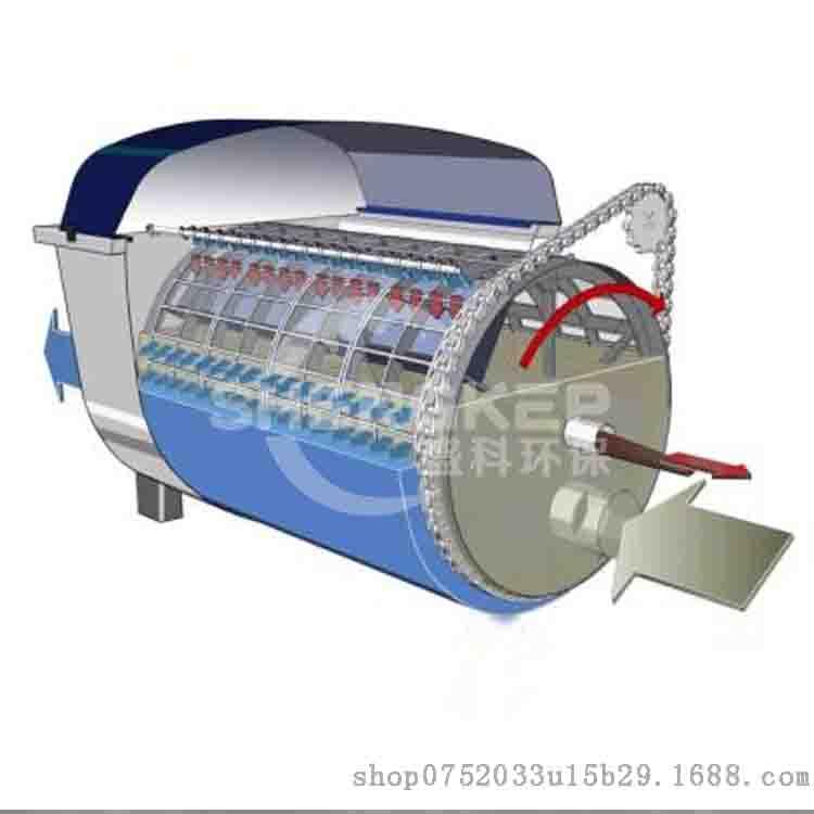 盛科环保微滤机滚筒筛旋转过滤水中杂质SDWN
