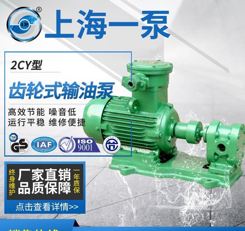 一泵KCB2CY齿轮输油泵 耐磨齿轮式输油泵 高压润滑油泵KCB-18.3