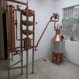 鑫华qing工机械定制zi铜小型白兰地蒸馏机组100升*1锅