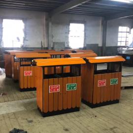 绿华lvhua街道木质垃圾箱制造厂商 户外景区木条分类垃圾桶生产企业lh-01