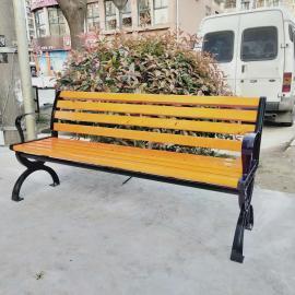 绿华户外街道木质长椅定制厂商 街边休息长条座椅制造公司lh-yz