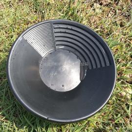 国邦PP圆形塑料淘金盆 便携式手工淘金工具 小型河沙淘金设备