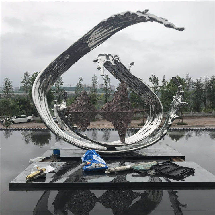 绿华不锈钢雕塑制作,艺术雕塑加工11
