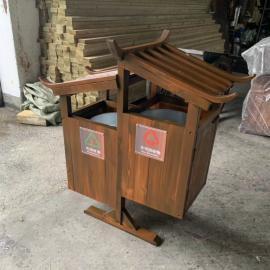 绿华lvhua旅游景点防腐木分类垃圾桶制造商 塑木垃圾箱现货厂商lh-01