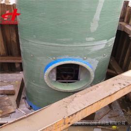 玻璃钢一体化预制提升泵站 一体化污水提升泵站3米*11.98米宏帅给排水