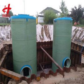 德国威乐进口水泵 一体化玻璃钢污水提升泵站宏帅给排水2000mm*8800mm