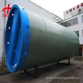 玻璃钢一体化污水提升泵站 一体化污水预制泵站2米*8.8米宏帅给排水