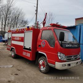 xiang农达社区5立方微xing水罐消防车fu田