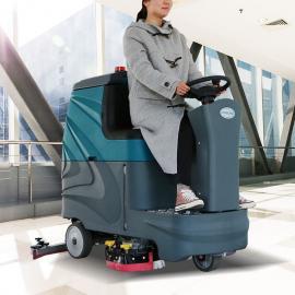 奥科朗全自动双刷电瓶驾驶式洗地机物业保洁工厂车间商用洗地机AKL-SJ100S