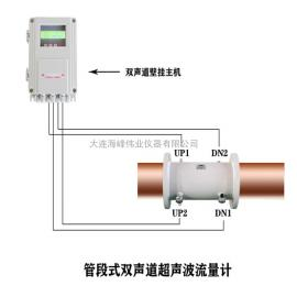 hai峰wei业 管duan式双声道超声波流量计 HF-2000