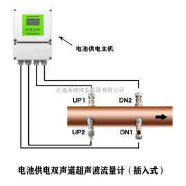 海feng伟业 插入式电chi供电双声dao超声波流量计 HF-2000