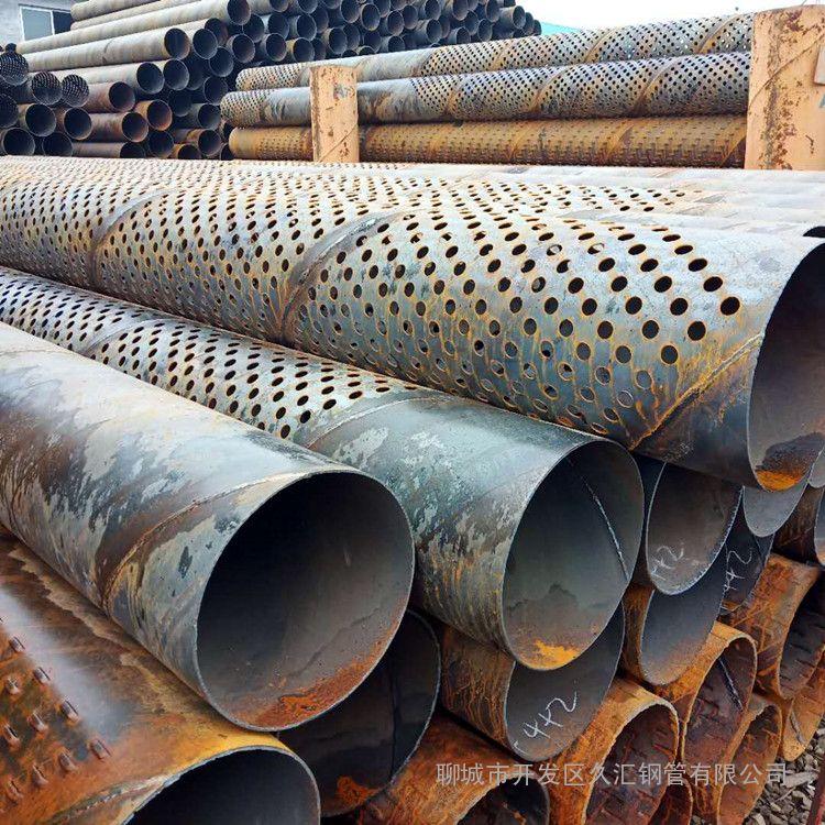 219井壁管200圆孔滤水管 219打井管每天生产