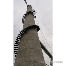yan囱旋转梯制作安装yan囱安装铁梯CEMS
