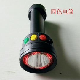 言泉电气DZY5110LED固态红绿白铁路三色电筒-充电多功能微型调车信号灯IP65