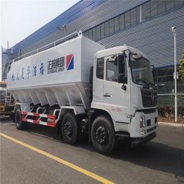 东风10fang小型鸡饲料膨hua物运输车8吨10吨三仓罐diandong送料车2020年kuan