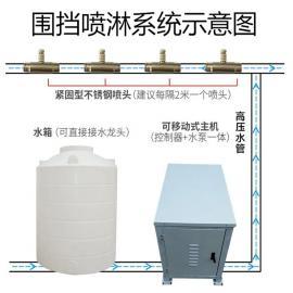 诺鑫达工地围挡喷淋设备/厂房降尘喷雾系统/工程塔吊除尘喷淋nxd-pw
