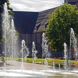 水云间景观公园别墅音乐喷泉、冷雾、叠水水景设计施工定制