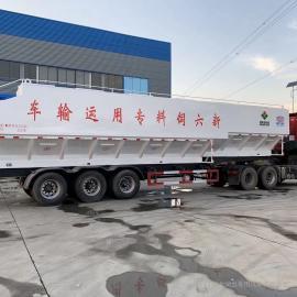 程力威牌三轴饲料罐车生产定制东风