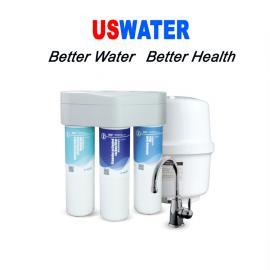 USWATER橱下直饮机净水器厨房净水机美国净水机RO反渗透净水器R400