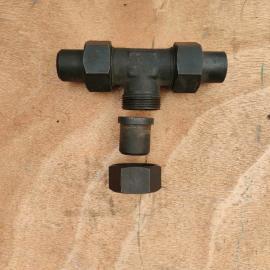 GLTLT高品质全系列高压碳钢焊接式三通液压接头JB972-10#