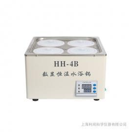 利闻数显电热恒温水浴锅 双列4孔HH-4B