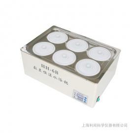 利闻数显电热恒温水浴锅 双列6孔HH-6B