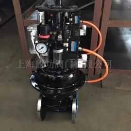 唐功英标 国标�?�式气动衬胶隔膜阀 带三联件开关信号反馈EG6K41J-10