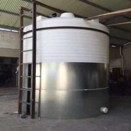 20吨耐酸碱储罐PE塑胶桶ju乙烯尖底排污罐加工